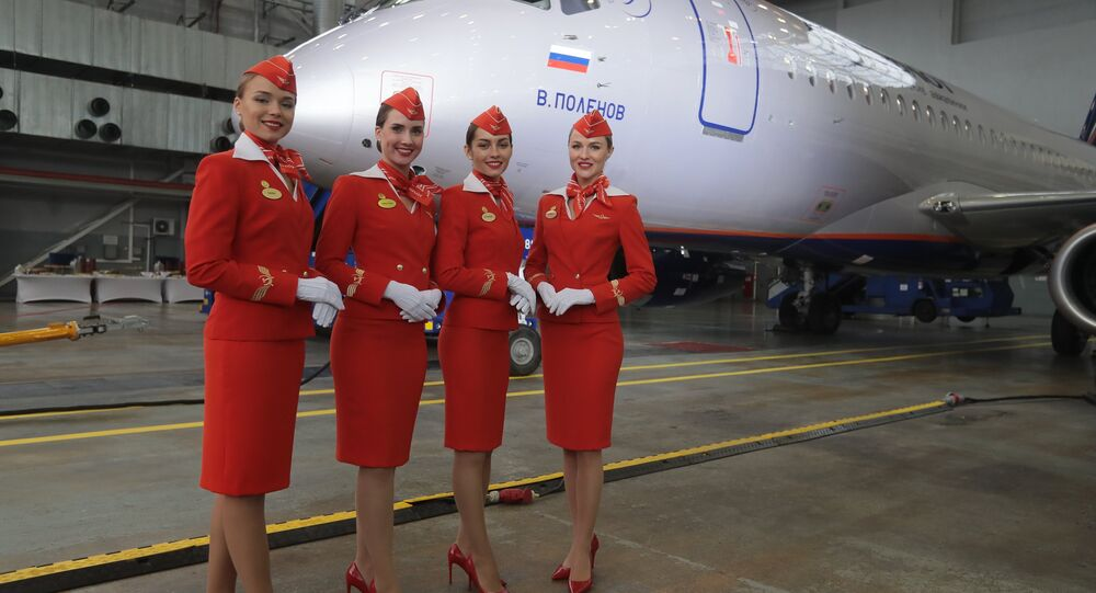 شركة ايروفلوت تتسلم طائرة سوخوي سوبرجيت100