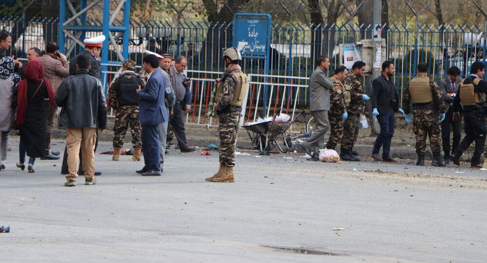 للأرشيف - انفجار في كابول، أفغانستان