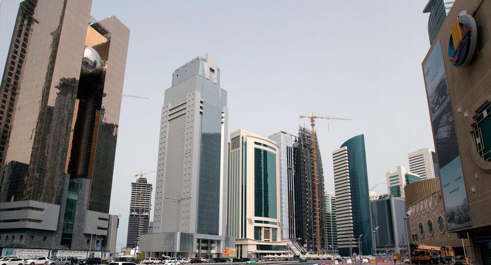 أحد شوارع مدينة الدوحة