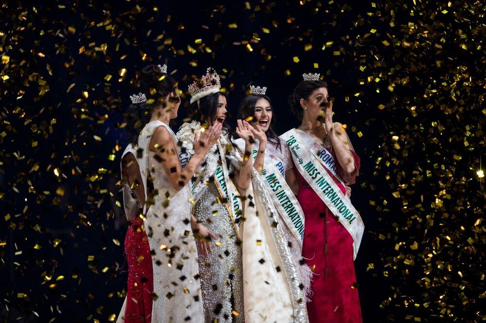 فوز مريم كلاريت فلازكو من فنزويلا بلقب ملكة جمال الأمم 2018 في طوكيو، اليابان 9 نوفمبر/ تشرين الثاني 2018