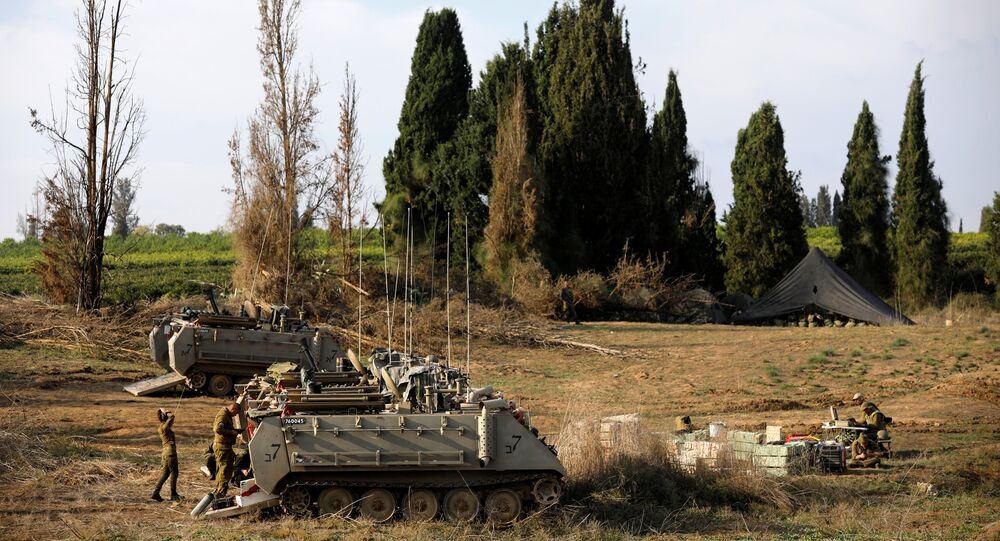 الجيش الإسرائيلي - انتشار القوات بالقرب من الحدود مع قطاع غزة، جنوب إسرائيل 13 نوفمبر/ تشرين الثاني 2018
