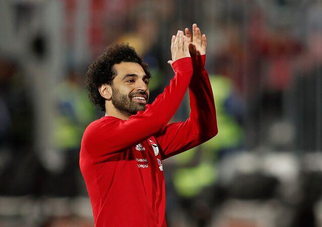 محمد صلاح في مباراة مصر وتونس، 16 نوفمبر/تشرين الثاني 2018
