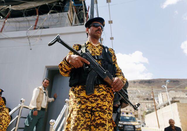 قوات الشرطة اليمنية في صنعاء، اليمن 19 نوفمبر/ تشرين الثاني 2018
