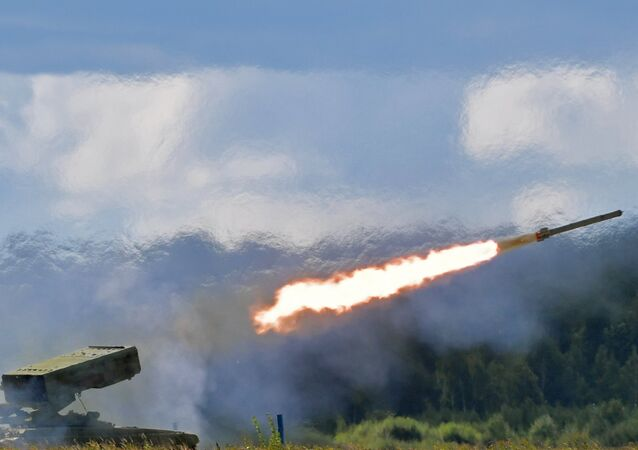 المركبات القتالية تورنادو-غ في معرض المنتدى الدولي للتقنيات العسكرية آرميا - 2018 (الجيش - 2018) في كوبينكا