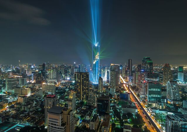 مشهد يطل على برج Mahanakhon في بانكوك، تايلاند