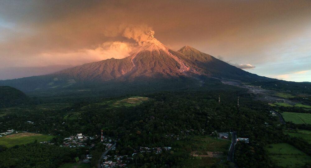 ثوران بركان فويغو، غواتيمالا 19 نوفمبر/ تشرين الثاني 2018
