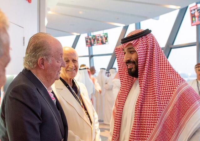 ولي العهد السعودي مع ملك إسبانيا