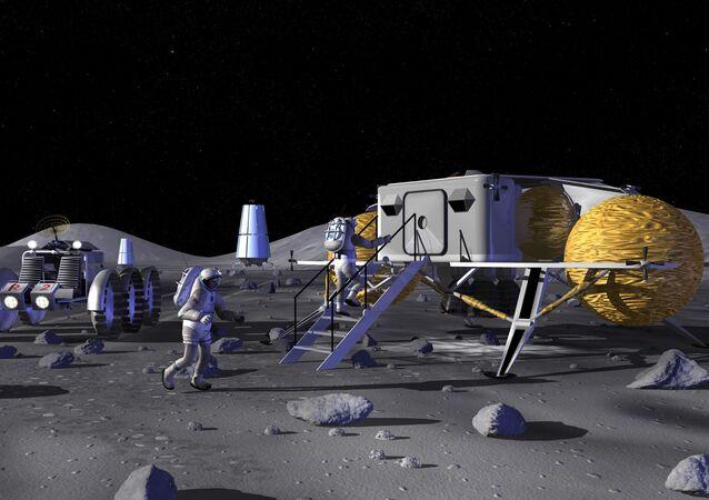محطة على سطح القمر كما تخيلتها ناسا