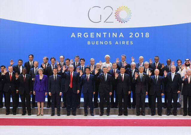 قادة  قمة مجموعة العشرين (G20) في بوينس آيرس، 30 نوفمبر/ تشرين الثاني 2018