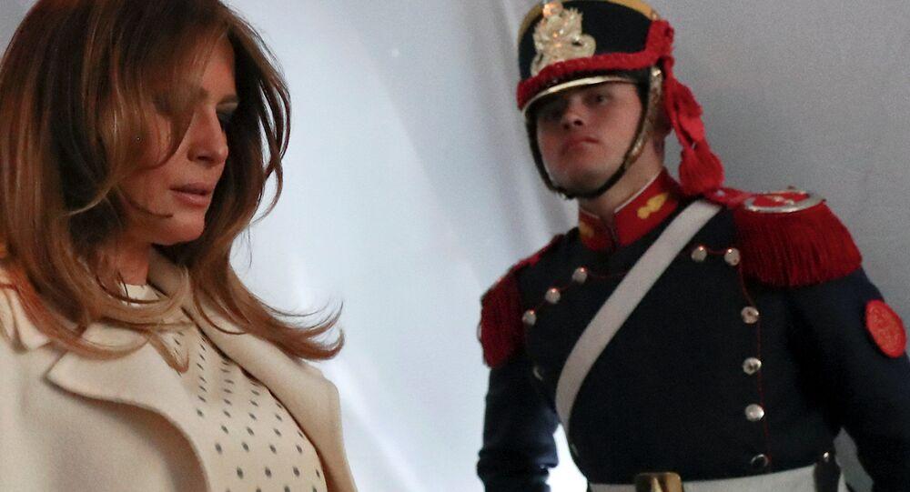 قمة مجموعة العشرين في بوينس آيرس، الأرجنتين، 1 ديسمبر/ كانون الأول 2018 - السيدة الأولى الأمريكية ميلانيا ترامب G20