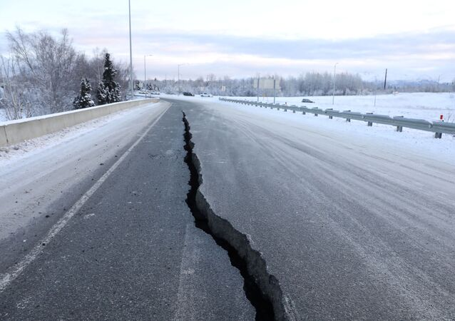 آثار زلزال في ألاسكا - 30 نوفمبر/ تشرين الثاني 2018