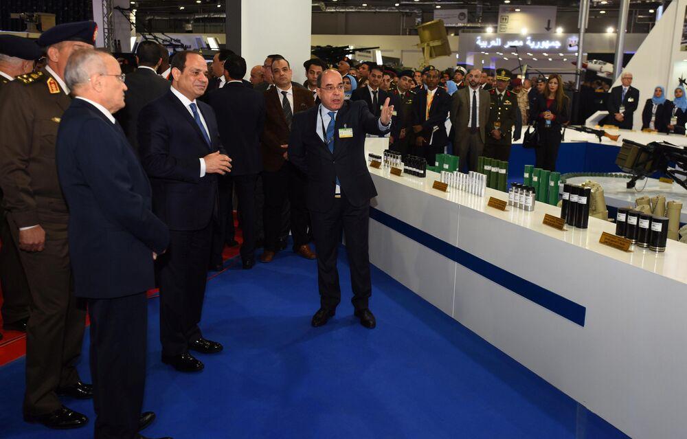 الرئيس المصري عبدالفتاح السيسي يفتتح معرض إيديكس 2018 في القاهرة، 3 ديسمبر/ كانون الأول 2018