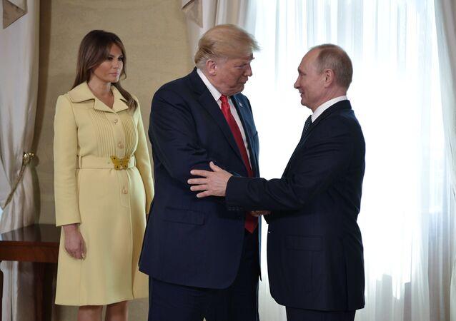 لقاء بوتين وترامب في هلسنكي
