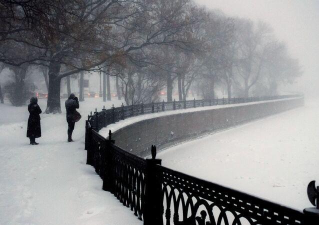 الشتاء في مدينة سان بطرسبورغ