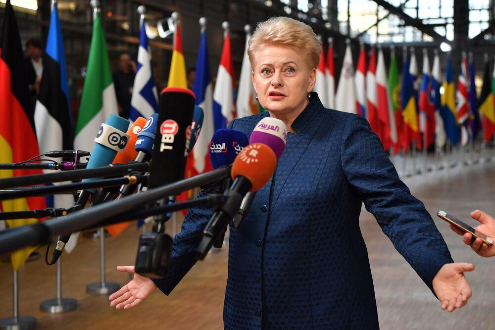 رئيسة ليتوانيا داليا غريباوسكايتيه