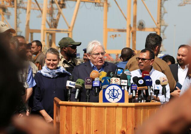 المبعوث الأممي إلى اليمن، مارتن غريفيث