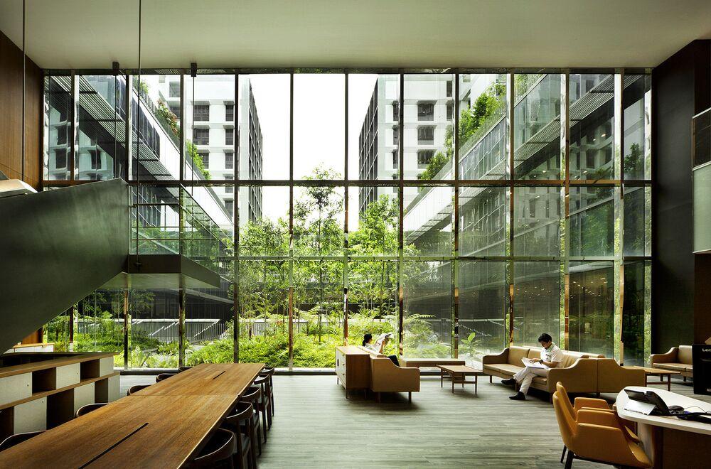 مبنى لدار رعاية المسنين في أحد أحياء سنغافورة، حاز على جائزة أفضل مبنى في العالم لعام 2018