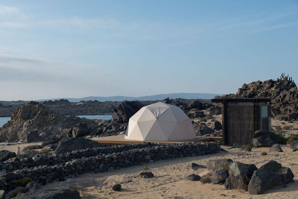 مشروع Piedras Bayas Beachcamp في تشيلي، حاز على جائزة أصغر تصميم معماري لعام 2018