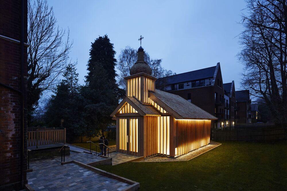 مشروع معماري لكنيسة في لندن، الذي فاز في فئة مشروع البناء المكتمل لدور العبادة