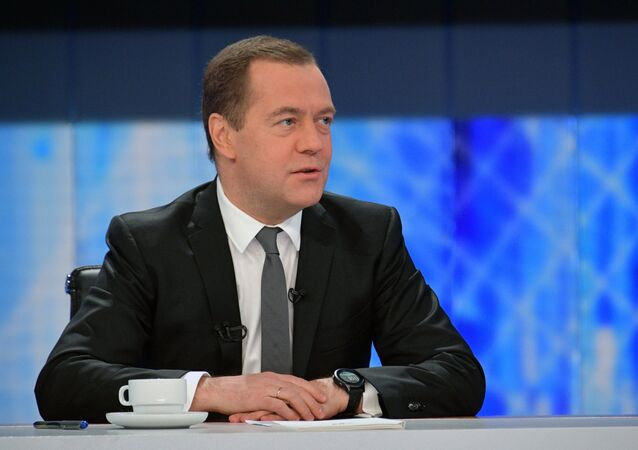رئيس الوزراء الروسي ديمتري مدفيديف