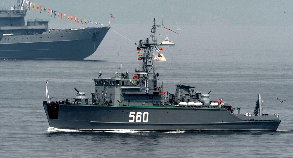 سفينة عسكرية روسية