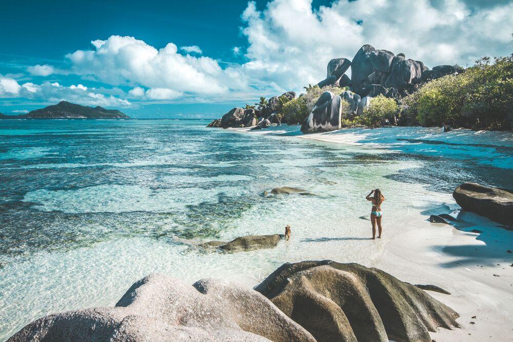 شاطئ جزر سيشيل