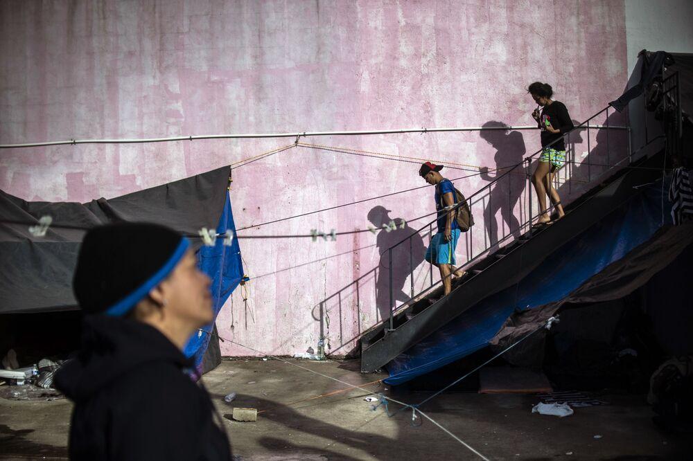 مهاجرون من أمريكا الوسطى في تيخوانا، كاليفورنيا الجنوبية، المكسيك 2 ديسمبر/ كانون الأول 2018