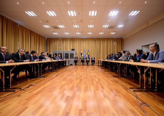 المشاورات التي انطلقت في السويد حول الأزمة اليمنية اليمن