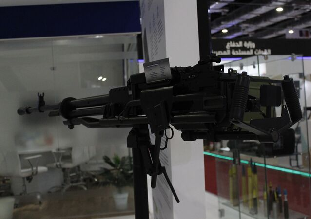 المدفع الرشاش إم 07 خلال عرضه بمعرض إيديكس 2018