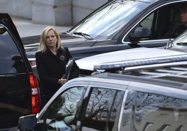 وزيرة الأمن الداخلي الأمريكي كريستين نيلسون