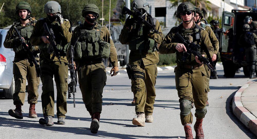 الجنود الإسرائيليون - اشتباكات مع الفلسطينيين في رام الله، الضفة الغربية 10 ديسمبر/ كانون الأول 2018