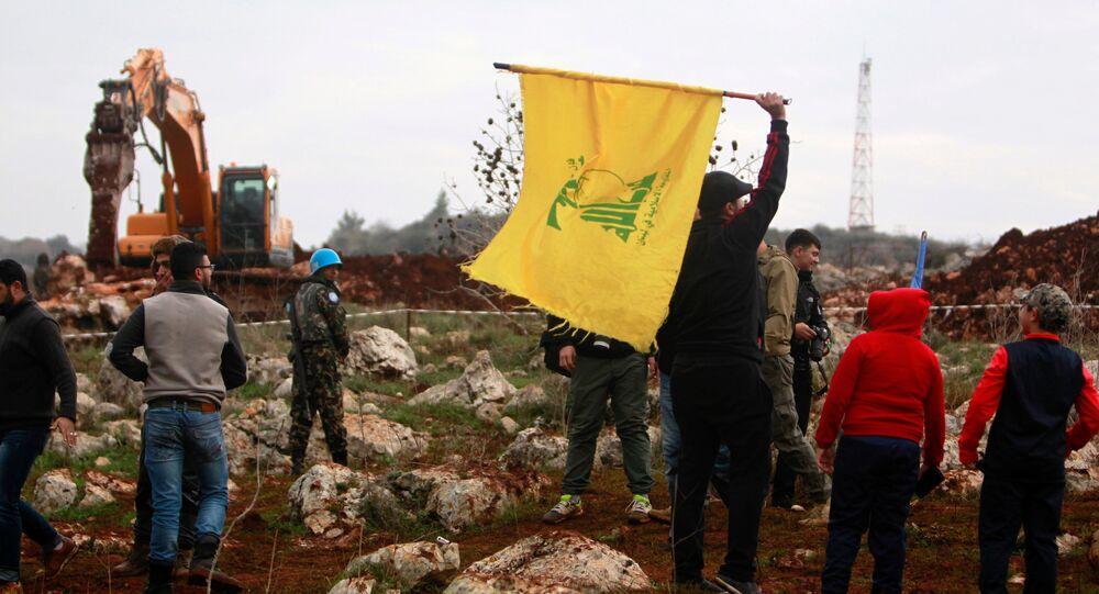 علم حزب الله - ميس الجبل، جنوب لبنان، 9 ديسمبر/ كانون الأول 2018