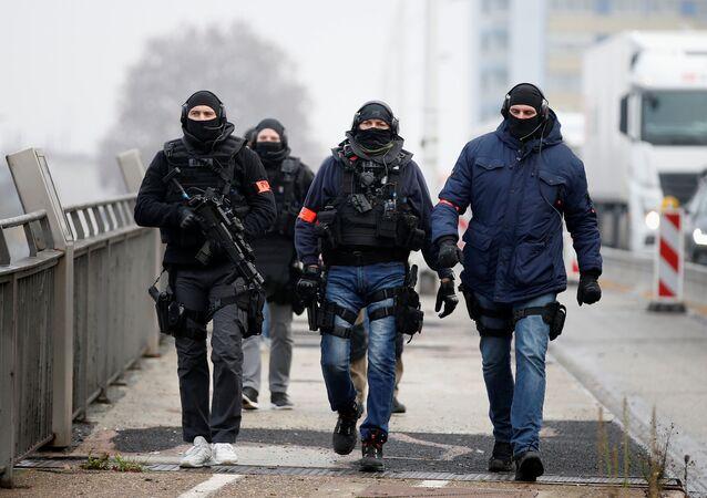 أحداث هجوم ستراسبورغ - الشرطة الفرنسية، قوات الأمن الخاصة، الحدود بين ألمانيا و فرنسا 12 ديسمبر/ كانون الأول 2018