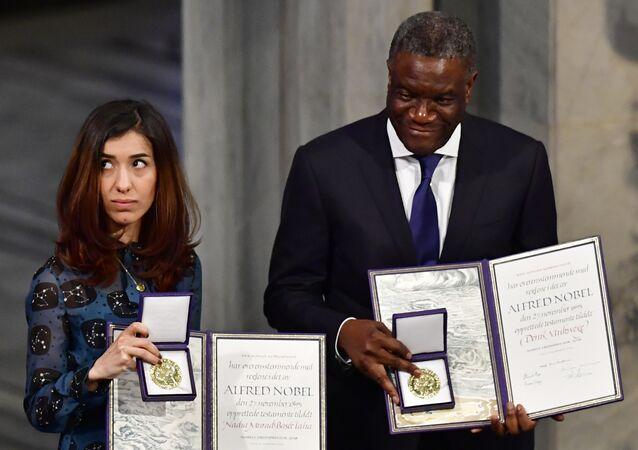 ناديا مراد في حفل جوائز نوبل