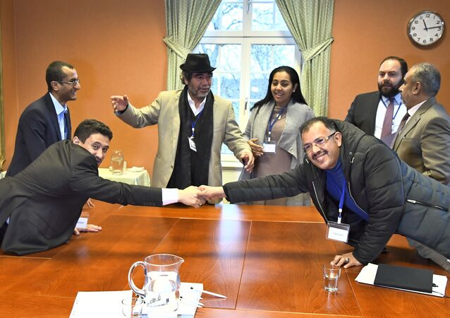 مصافحة استثنائية في السويد بين المتحاربين في اليمن