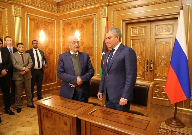 رئيس مجلس النواب الليبي يوقع مع الدوما اتفاقية لتعزيز العلاقات