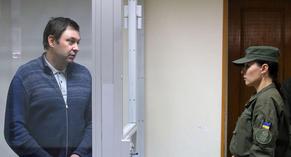 رئيس تحرير ريا نوفوستي كيريل فيشينسكي في محكمة الاستئناف