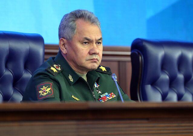 وزير الدفاع الروسي سيرغي شويغو في اجتماع موسع في وزارة الدفاع الروسية، 18 ديسمبر/ كانون الأول 2018