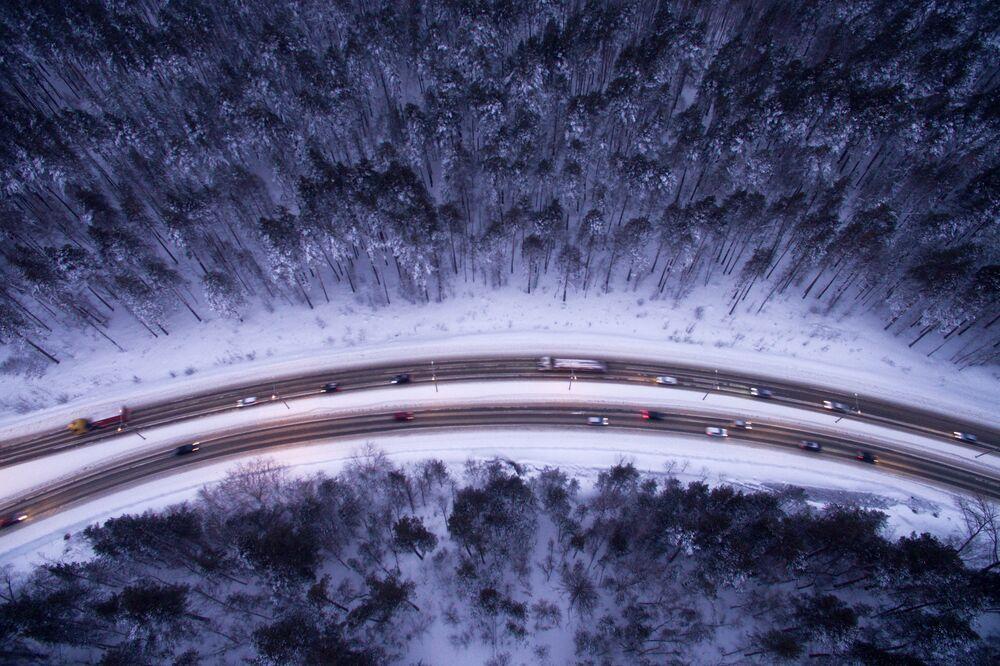 بانوراما الطريق السريع بريدسكوي شوسي في نوفوسيبيرسك