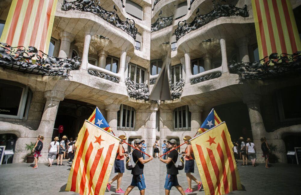 مشاركة فعالية لأنصار استقلال كتالونيا في برشلونة، 11 سبتمبر/ أيلول 2018