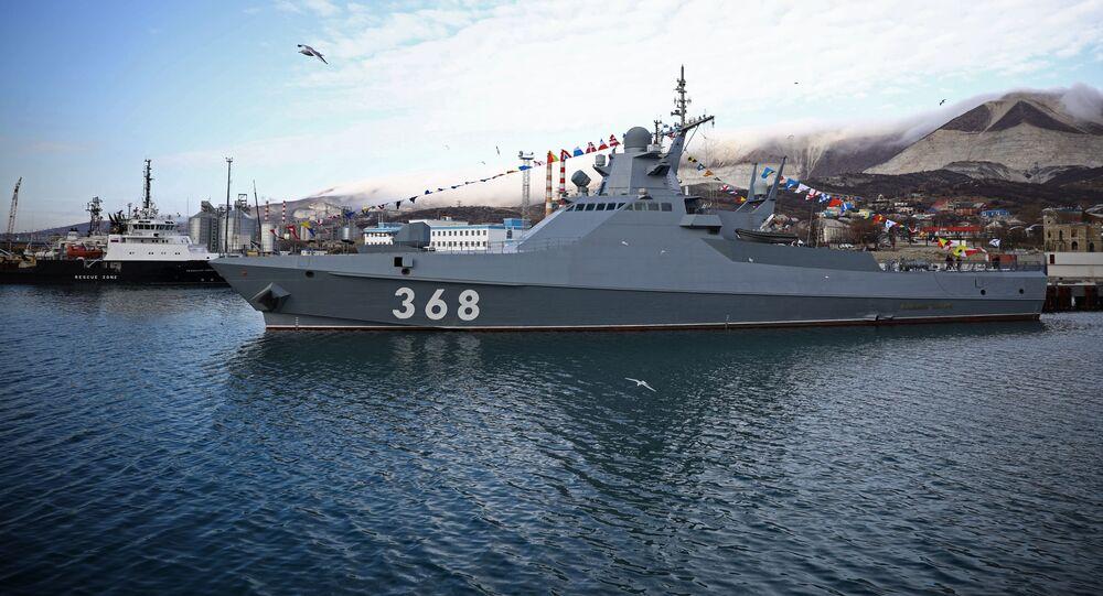 أحدث سفينة دورية فاسيلي بيكوف (مشروع 22160)، تدخل في خدمة أسطول البحر الأسود، القاعدة البحرية العسكرية في نوفوسيبيرسك