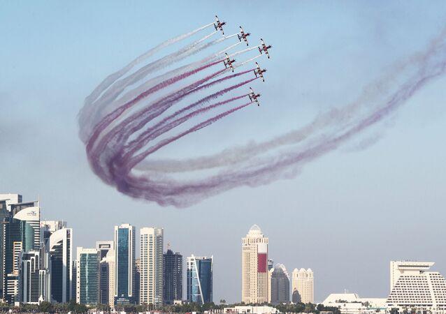 احتفالات باليوم الوطني لقطر في الدوحة، 18 ديسمبر/ كانون الأول 2018