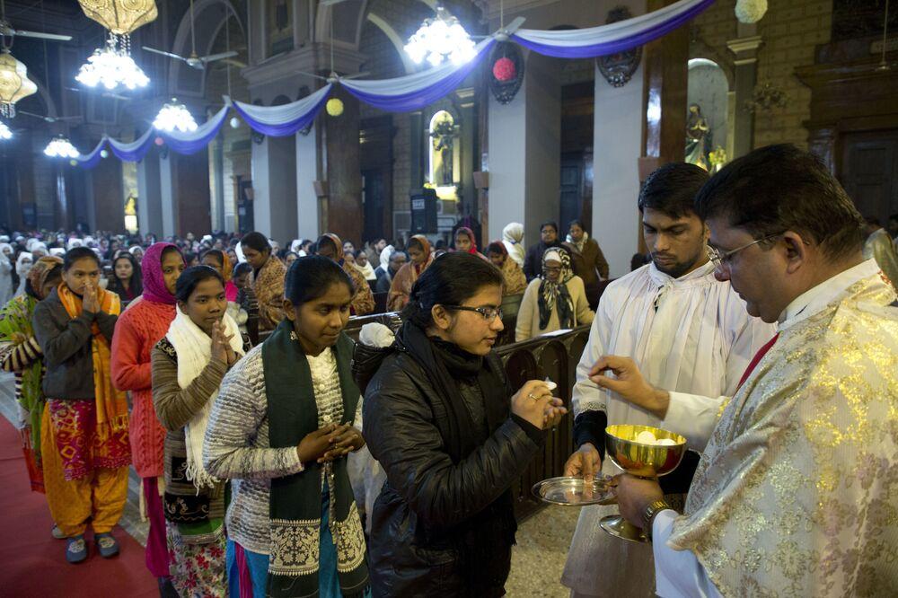 قداس عيد الميلاد في الهند