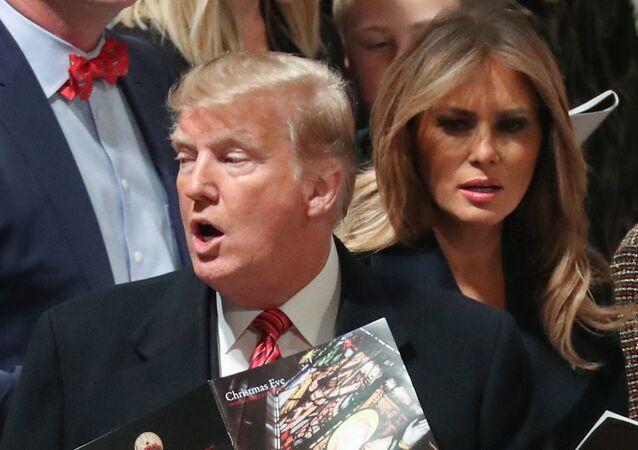 دونالد ترامب وزوجته ميلانيا ترامب