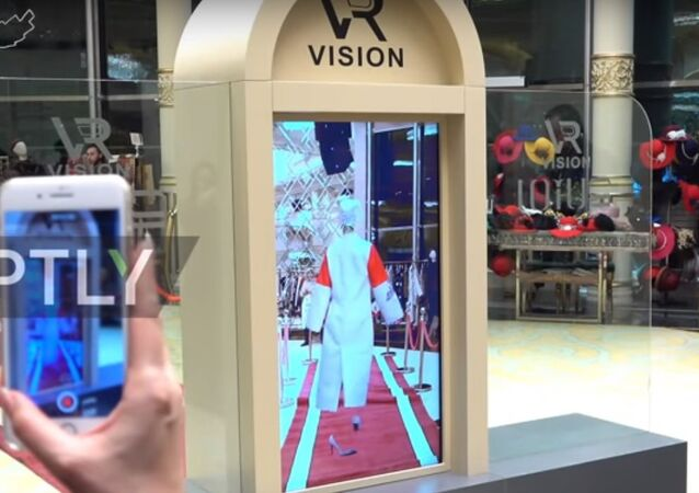 عرض أزياء في طهران باستخدام تقنية الواقع المعزز