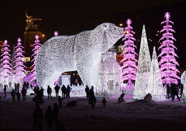 موسكو خلال احتفالات بمناسبة رأس السنة الجديدة