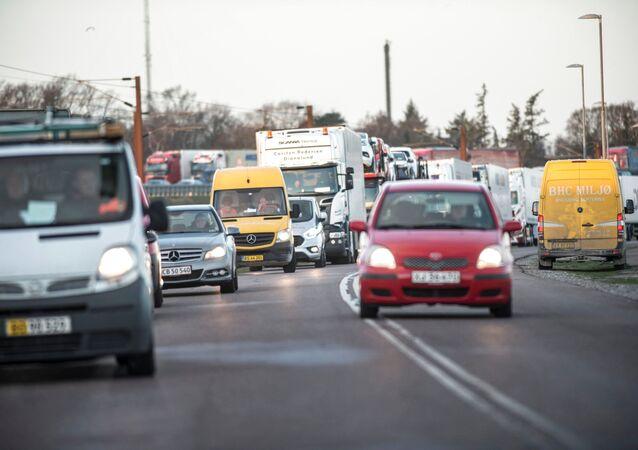 موقع حادث القطار في الدنمارك