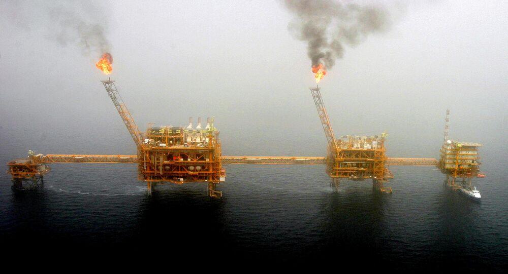حقل نفطي إيراني في الخليج