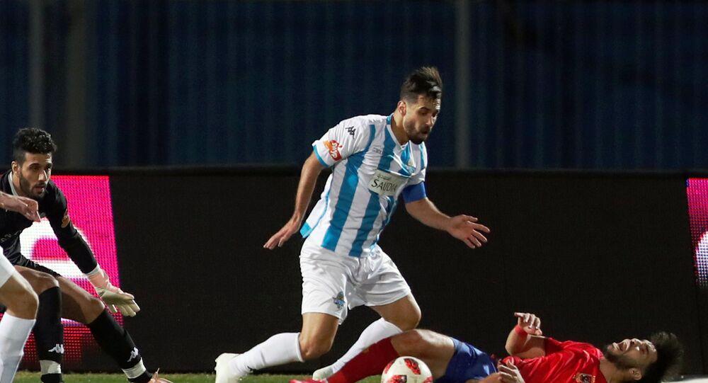 مباراة الأهلي مع بيراميدز - عبد الله السعيد
