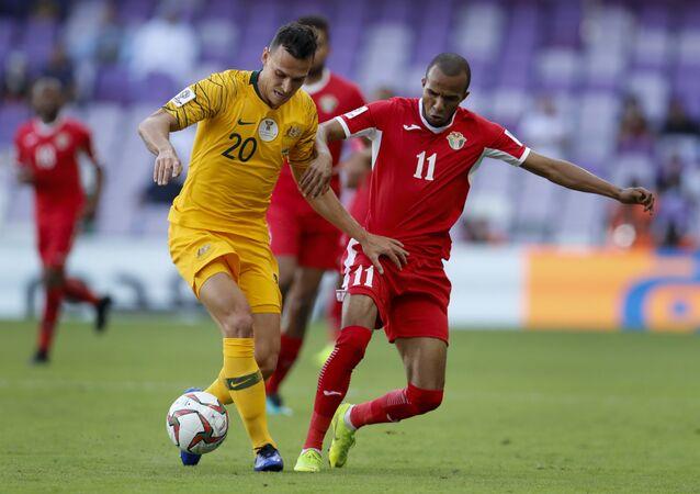 من مباراة الأردن مع أستراليا في كأس الأمم الآسيوية 2019